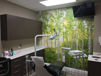 Patient care room at LightHouse Dental