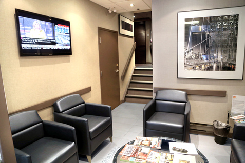 Toronto dentist waiting area